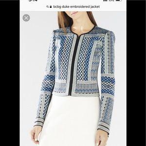 New w/tags BCBG Embroidered Jacket sz XS